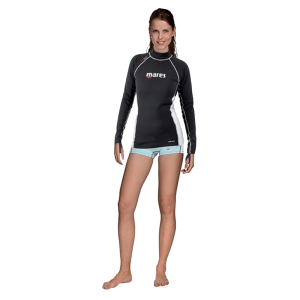 Mares Fire Skin Long Sleeve With Hood - She Dives | Mares Rashguards | Mares Singapore